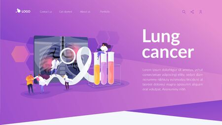 Lung cancer landing page concept