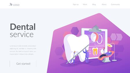 Private dentistry landing page concept Stock Vector - 129337740