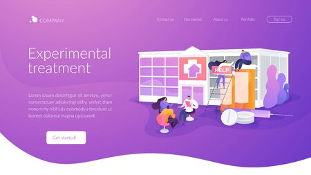 Drug rehab center landing page concept