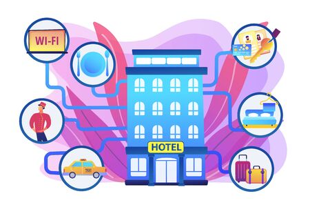 Hospitality management concept vector illustration Иллюстрация