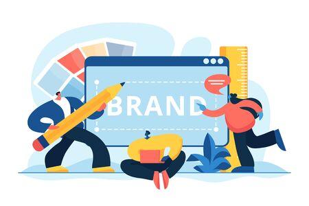Brand identity concept vector illustration Stock Vector - 129521059