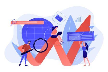Digital marketing concept vector illustration. Ilustração