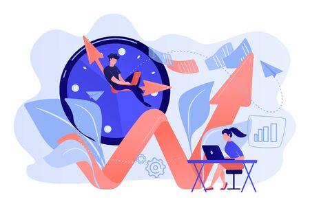Productivity concept vector illustration. Illustration