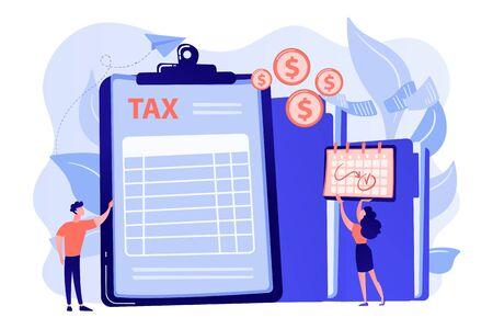 Tax form concept vector illustration. Stock Illustratie