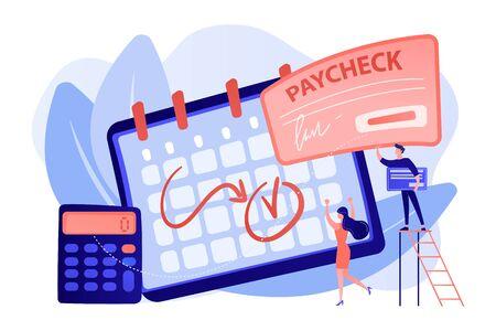 Paycheck concept vector illustration.