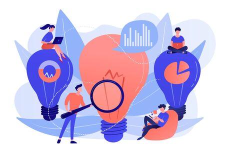 Business solution concept vector illustration.