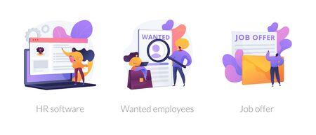 HR recruiter vector concept metaphors