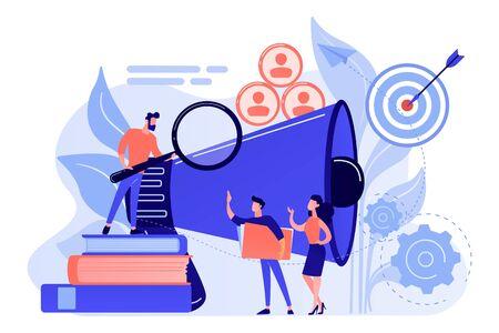 Target group concept vector illustration.
