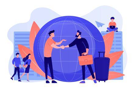 Expat work concept vector illustration
