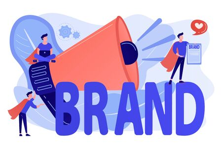 Personal brand concept vector illustration