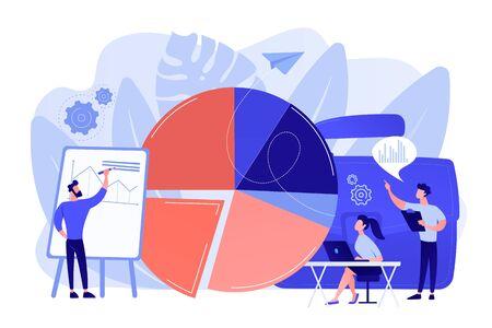 Business statistics concept vector illustration