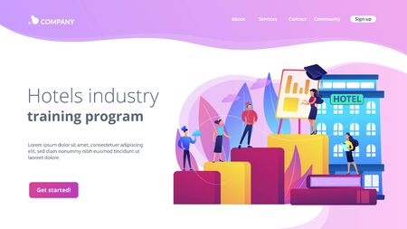 Hospitality courses concept landing page