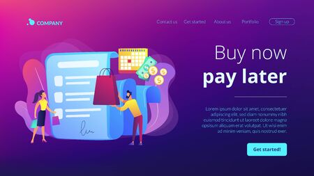 Deferment of payment concept landing page