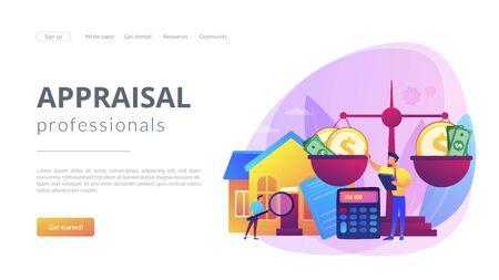 Appraisal services concept landing page 向量圖像