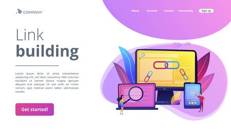 Link building concept landing page