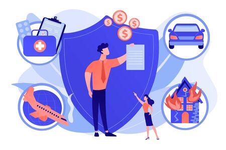 Insurance broker concept vector illustration