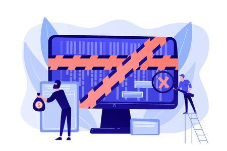 Computer forensics concept vector illustration