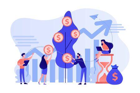 Portfolio income concept vector illustration.