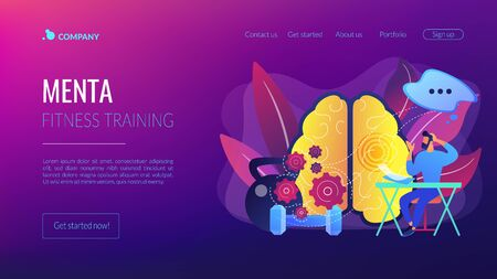 Mind fitness concept landing page
