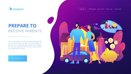 Family planning concept landing page