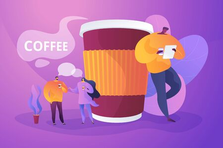 Coffee break concept vector illustration