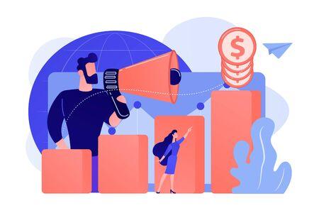Economic development concept vector illustration.