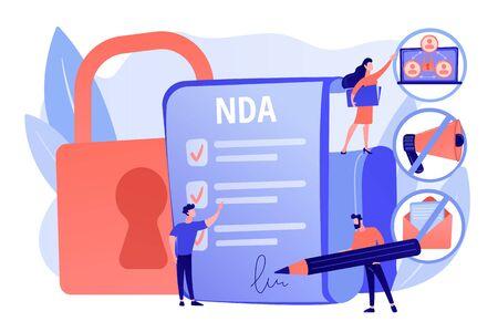 Nondisclosure agreement concept vector illustration