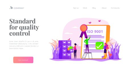 Standard for quality control landing page template