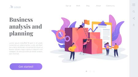 Project management landing page template.