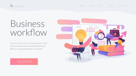 Workflow landing page concept