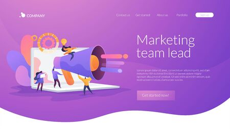 Marketing team landing page concept