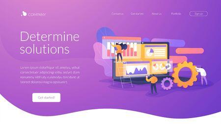 Concept de page de destination d'analyse commerciale