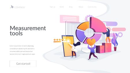Digital marketing strategy landing page concept