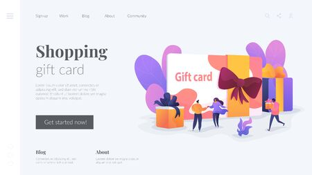 Gift card landing page template.