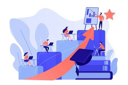 Professional development of teachers concept vector illustration Çizim