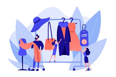 Fashion house concept vector illustration. Иллюстрация