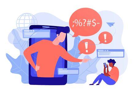 Cyberbullying concept vector illustration. Vektorgrafik
