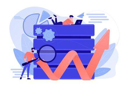 Big data tools concept vector illustration. Illustration