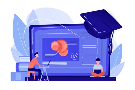 Online education platform concept vector illustration.