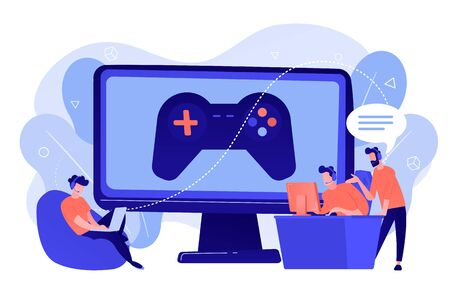 Esports coaching concept vector illustration Çizim