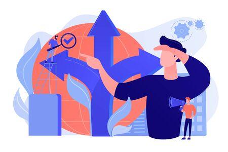 Decision making concept vector illustration Çizim