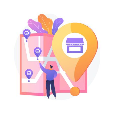 Small business expansion. Franchise development, assets management, globalization idea. Market leadership. Successful restaurant branch opening. Vector isolated concept metaphor illustration