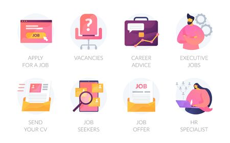 Human resources vector icons set