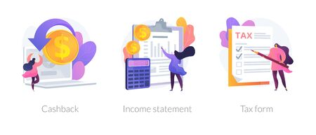 Bankdocumentatie vector concept metaforen Vector Illustratie
