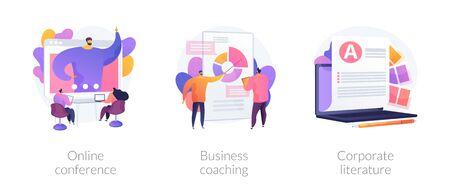 Business education vector concept metaphors. Çizim
