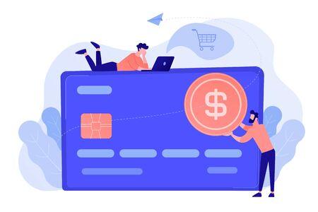 Credit card concept vector illustration. Illustration