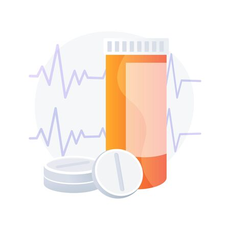 Pills for heart vector concept metaphor