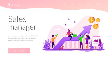 Sales growth landing page template