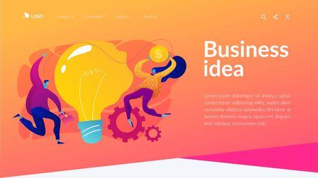 Business idea landing page template.