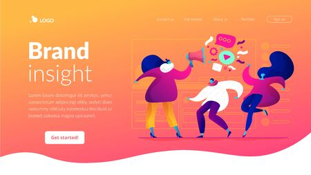 Target group landing page template.